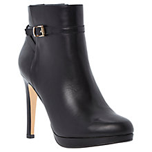 Buy Dune Northeast Leather Strap Detail Stiletto Ankle Boots Online at johnlewis.com