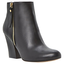 Buy Dune Ninety Leather High Heel Ankle Boots, Black Online at johnlewis.com