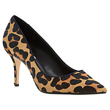 Buy Dune Alina Stiletto Heeled Leather Court Shoes Online at johnlewis.com