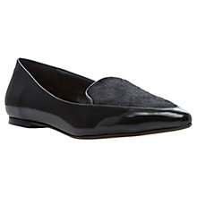 Buy Dune Austine Pointed Toe Flat Pumps, Black Online at johnlewis.com