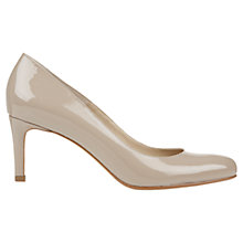 Buy Hobbs Lizzie Patent Leather Court Shoes, Parchment Online at johnlewis.com