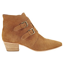 Buy Jigsaw Lou Lou Suede Ankle Boots, Ginger Online at johnlewis.com