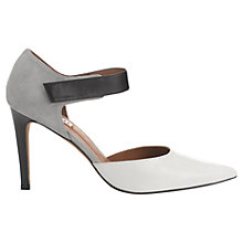 Buy Whistles Cara Two Part Court Shoes, Grey Online at johnlewis.com