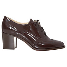 Buy Hobbs Agnes Spazzolato Block Heel Leather Brogues, Burgundy Online at johnlewis.com