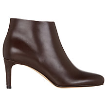 Buy Hobbs Lizzie Leather Ankle Boots, Chocolate Online at johnlewis.com