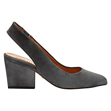 Buy Whistles Annie Block Heel Slingback Shoes, Dark Grey Online at johnlewis.com