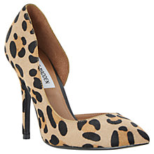 Buy Steve Madden Gayyle Pony High Stiletto Heel Court Shoes Online at johnlewis.com