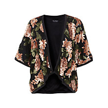 Buy Miss Selfridge Flower Sequin Kimono, Black Online at johnlewis.com