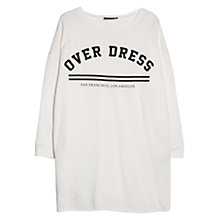 Buy Mango Oversized Jersey Dress, Natural White Online at johnlewis.com