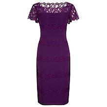 Buy Jacques Vert Lace Pleat Dress, Byzantium Online at johnlewis.com