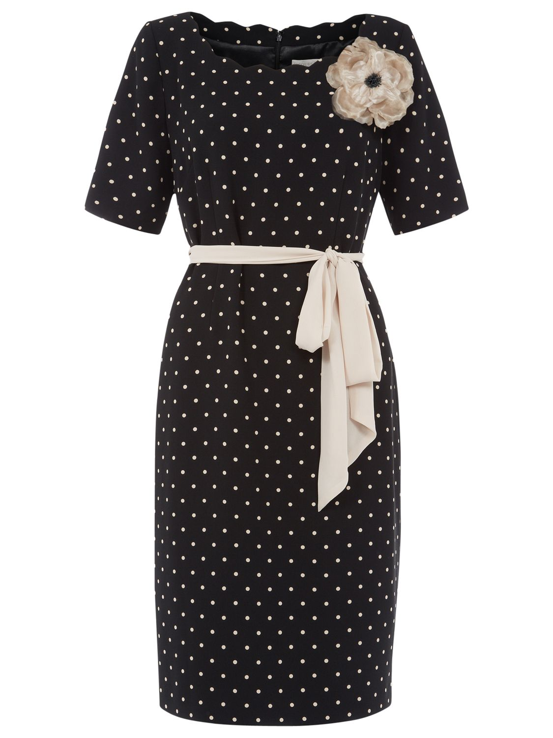 jacques vert spot crepe belted dress black, jacques, vert, spot, crepe, belted, dress, black, jacques vert, 12|10, clearance, womenswear offers, womens dresses offers, special offers, women, plus size, inactive womenswear, new reductions, womens dresses, 1654392