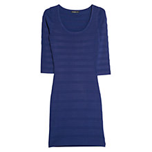 Buy Mango Stripe Textured Dress Online at johnlewis.com
