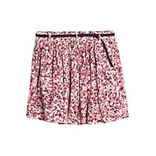 Buy Mango Belted Print Skirt, Light Pastel Pink Online at johnlewis.com
