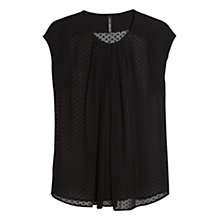 Buy Mango Plumeti Silk Blend Blouse Online at johnlewis.com