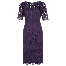 Buy Jacques Vert Luxury Lace Dress, Damson Online at johnlewis.com