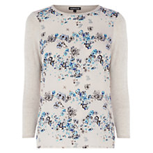 Buy Warehouse Floral Front Star Jumper, Cream Online at johnlewis.com