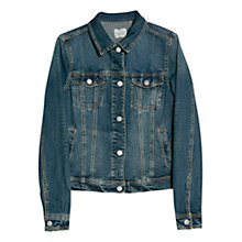 Buy Mango Distressed Denim Jacket, Medium Blue Online at johnlewis.com
