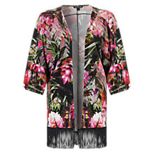 Buy Warehouse Kimono Jacket, Black / Multi Online at johnlewis.com