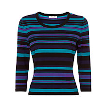 Buy Precis Petite Striped Jumper, Multi Dark Online at johnlewis.com