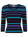 Precis Petite Striped Jumper, Multi Dark