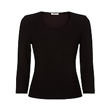 Buy Precis Petite Textured Top, Black Online at johnlewis.com