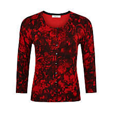 Buy Precis Petite Rose Print Cardigan, Multi Dark Online at johnlewis.com