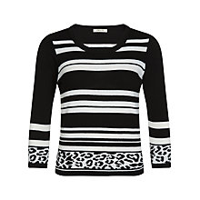Buy Precis Petite Stripe & Animal Print Jumper, Multi Dark Online at johnlewis.com