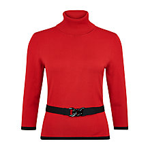 Buy Precis Petite Roll Neck Jumper, Scarlet Online at johnlewis.com