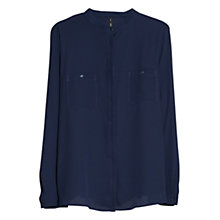 Buy Mango Collarless Pocket Shirt Online at johnlewis.com