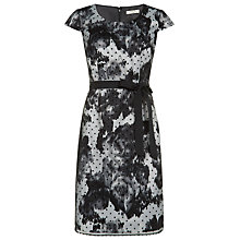 Buy Precis Petite Floral Spot Dress, Grey/Black Online at johnlewis.com