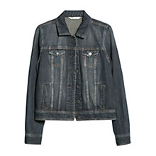 Buy Mango Dark Denim Jacket, Navy Online at johnlewis.com