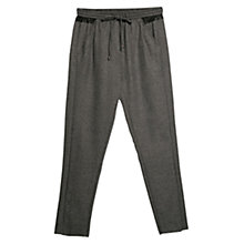 Buy Mango Trim Flowy Trousers, Medium Grey Online at johnlewis.com