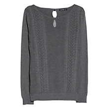Buy Mango Bow Wool Sweater, Medium Grey Online at johnlewis.com