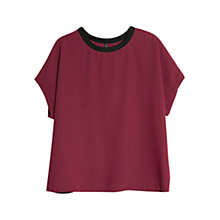 Buy Mango Contrast Neck Blouse Online at johnlewis.com