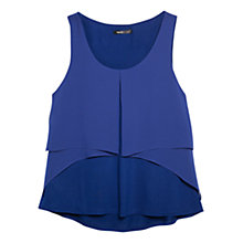 Buy Mango Textured Chiffon Blouse, Dark Blue Online at johnlewis.com