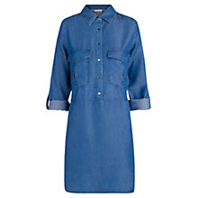 Buy Mango Tencel Long Blouse, Medium Blue Online at johnlewis.com