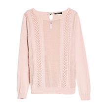 Buy Mango Bow Detail Cable Knit Jumper Online at johnlewis.com
