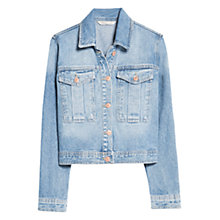 Buy Mango Cropped Denim Jacket, Medium Blue Online at johnlewis.com