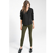 Buy Mango Slim Fit Zip Trousers, Khaki Online at johnlewis.com