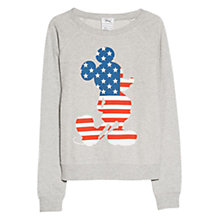 Buy Mango Mickey Mouse Printed Jumper, Medium Grey Online at johnlewis.com