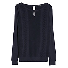 Buy Mango Bow Wool-Blend Sweater, Navy Online at johnlewis.com