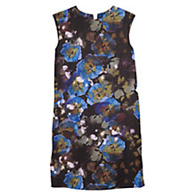 Buy Mango Floral Shift Dress, Black / Multi Online at johnlewis.com