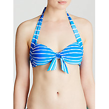 Buy Seafolly Miami Striped Halter Bikini Top, Lapis Online at johnlewis.com