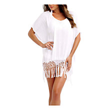 Buy Seafolly Miami Sky Midi Kaftan, White Online at johnlewis.com
