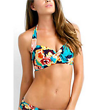 Buy Seafolly Kabuki Bloom Soft Cup Halter Bikini Top, Seychelles Online at johnlewis.com