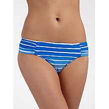 Buy Seafolly Miami Striped Ruched Bikini Pants, Lapis Online at johnlewis.com