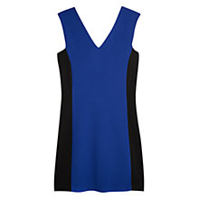 Buy Mango Monochrome Texture Dress, Medium Blue Online at johnlewis.com
