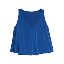 Buy Mango Seam Top, Medium Blue Online at johnlewis.com