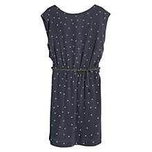 Buy Mango Printed Braid Belt Dress, Navy Online at johnlewis.com