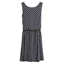 Buy Mango Belted Printed Dress, Medium Blue Online at johnlewis.com
